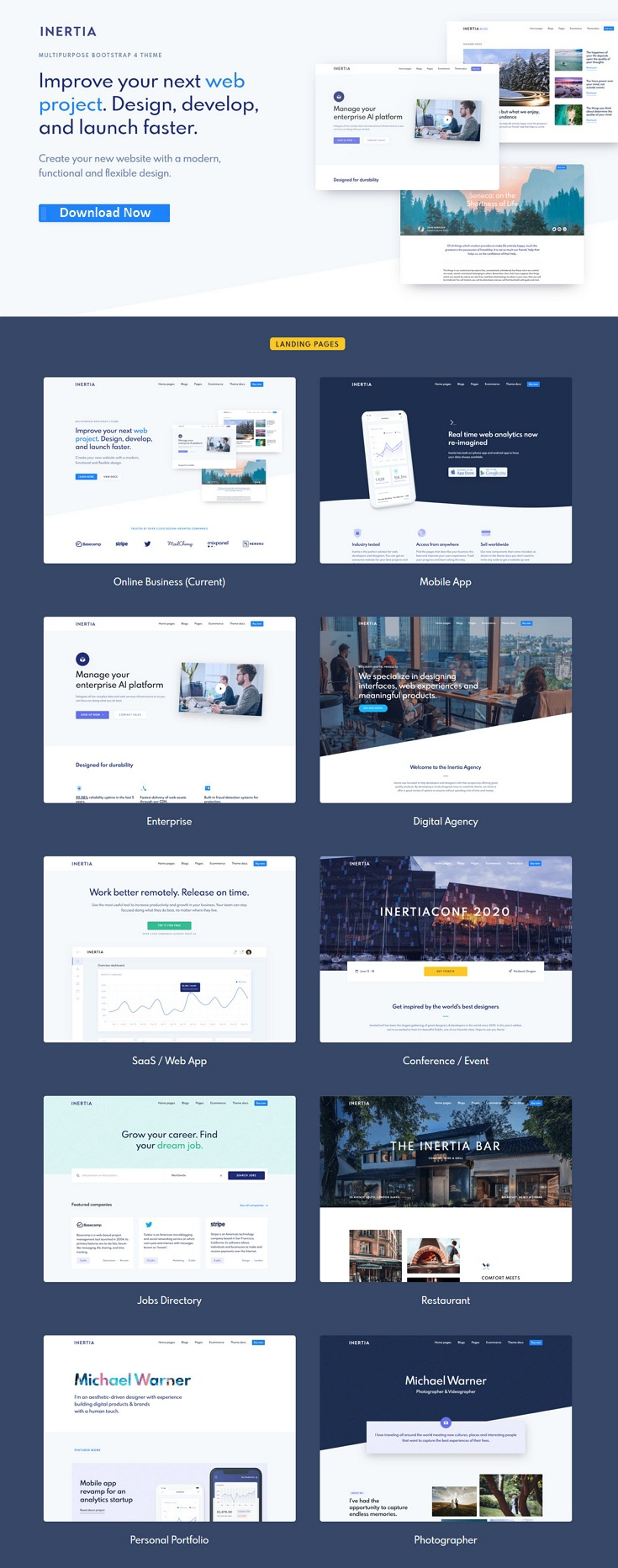 Multipurpose Bootstrap Theme
