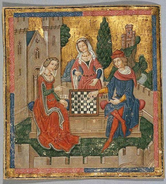 Jogando xadrez. Coleção Plimpton, Add MS 18.