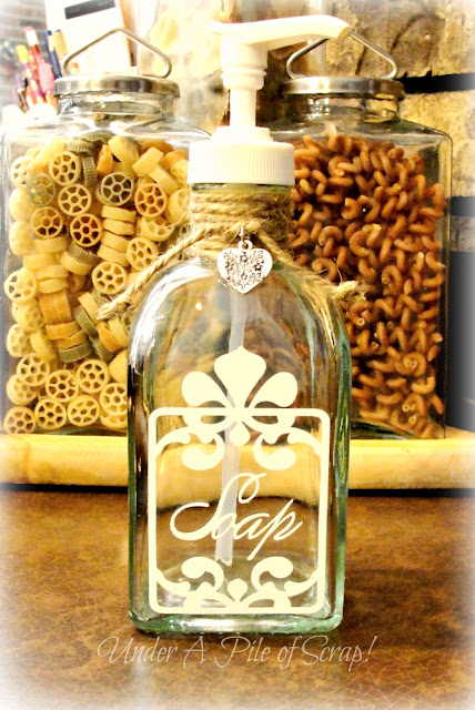 soap, cricut project, kitchen decor, bath decor, bathroom project,