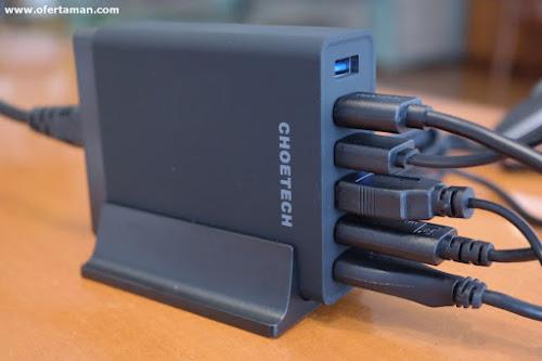 CHOETECH Q34U2QEU cargador Quick Charge 3.0