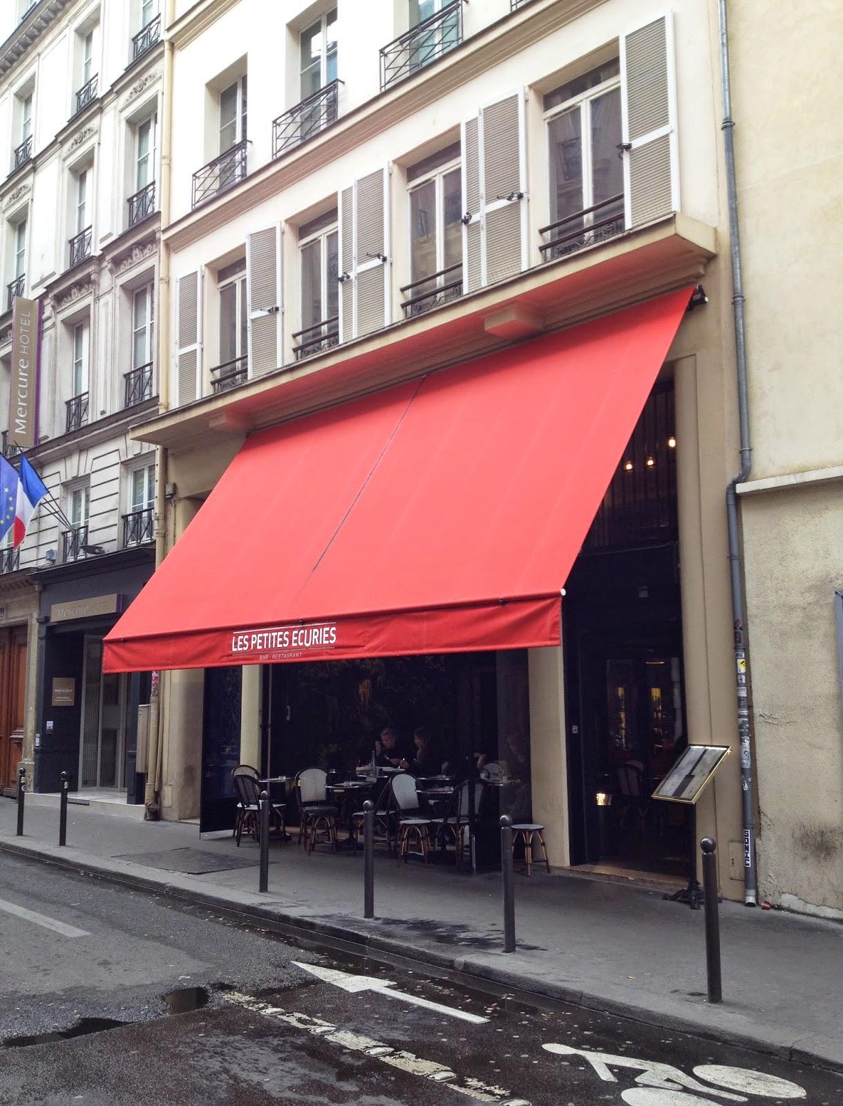 Restaurant Les Petites Ecuries Paris 10ème