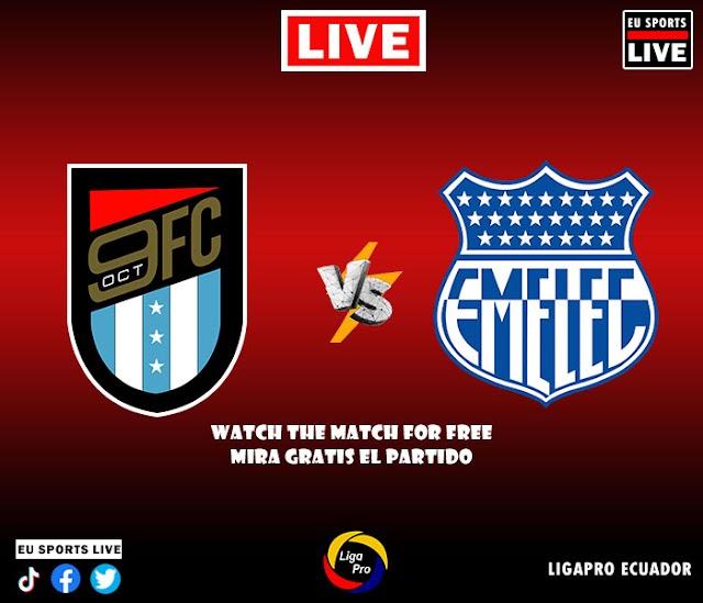 EN VIVO | 9 de Octubre vs. Emelec | Partido de la LigaPro | Fecha 5 de la Segunda Etapa | Fútbol Ecuatoriano Ver Gratis