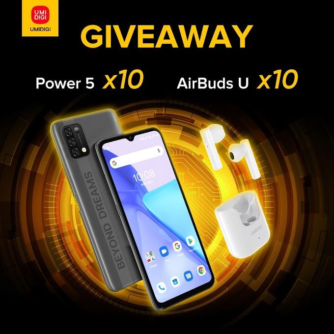 Sorteio de 10 Smartphones UMIDIGI Power 5+ e AirBuds U