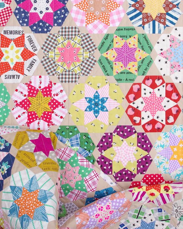 Ice Cream Soda Quilt - English Paper Pieced © Red Pepper Quilts 2021