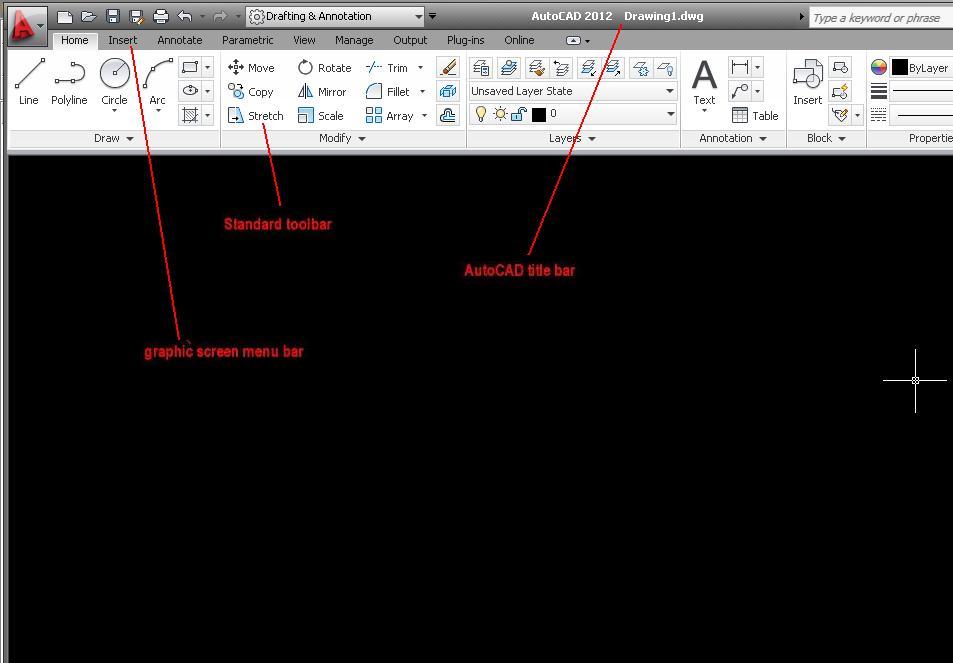 Jasa Desain Autocad Graphic Screen Menu Bar 2012