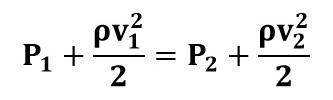 Reducción de la Ecuación de Bernoulli para tubo Venturi