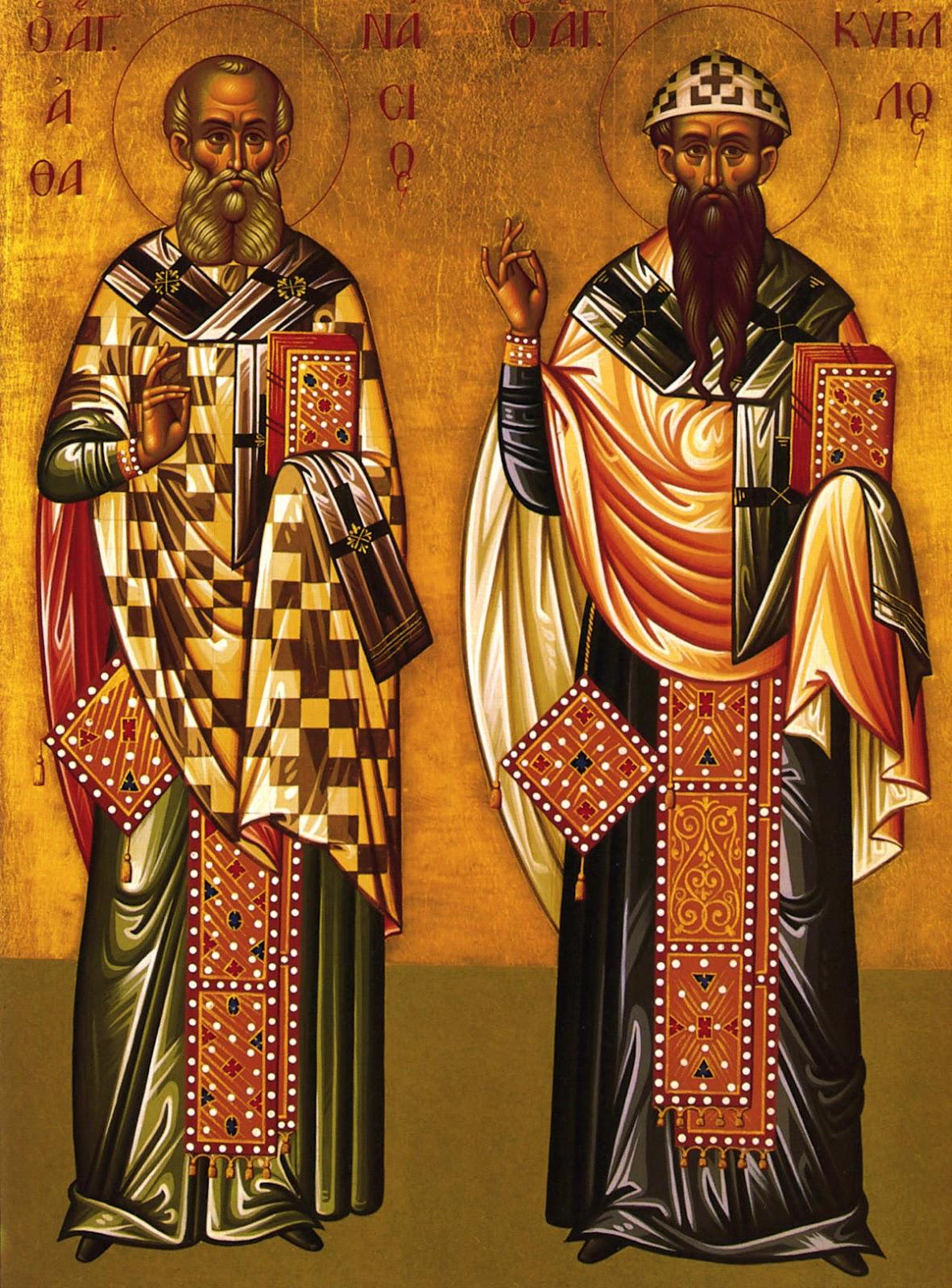 """Результат пошуку зображень за запитом """"Святих отців наших архієпископів Александрійських Атанасія і Кирила."""""""