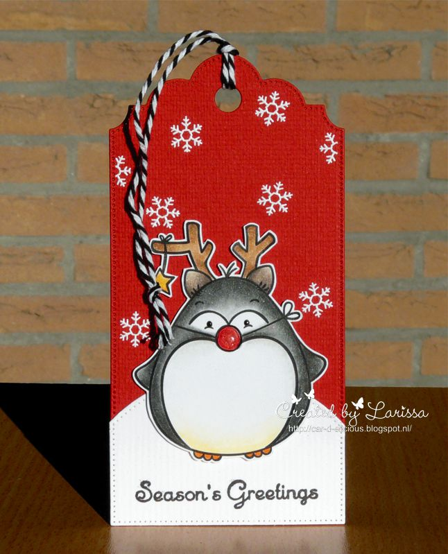 Car-D-elicious: Christmas tag - Penguin Holidays