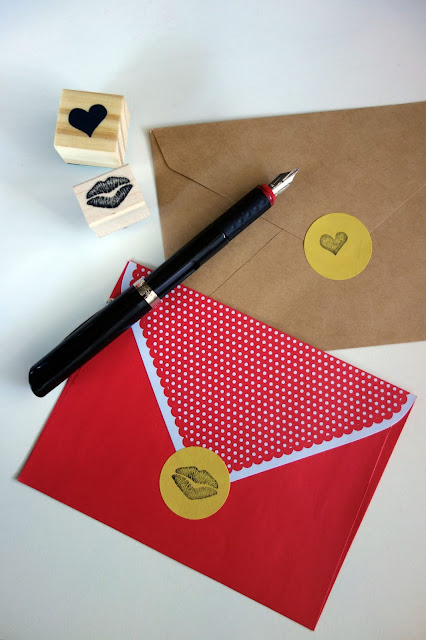 stationery, sealed with a kiss, rubber stamps and ink pad, snail mail, writing, correspondence