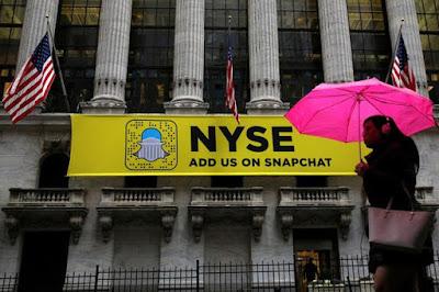 Snapchat sale a bolsa con una oferta pública inicial de acciones ( OPI )