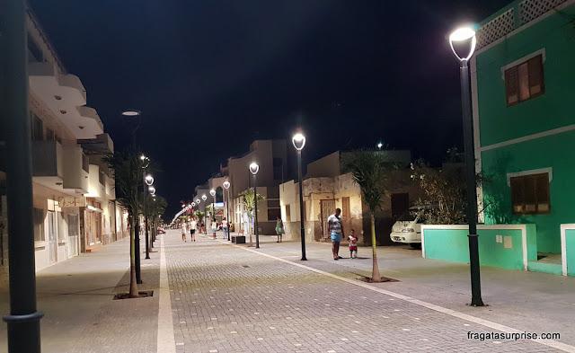 Rua 1º de Junho,  principal via de Santa Maria, exclusiva para pedestres