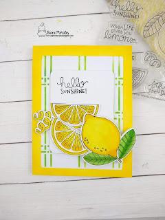 New Year Twist a card by Diane Morales | Lemon Twist Stamp Set by Newton's Nook Designs