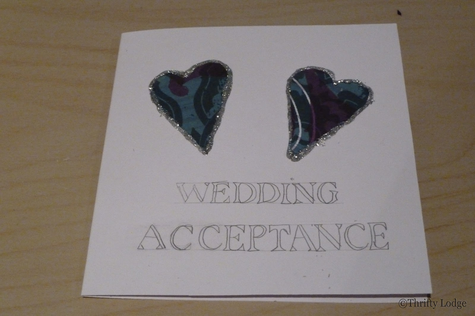 Accepting Wedding Invitation Letter: Thrifty Lodge: Fancy Fonts- Wedding Acceptance Card