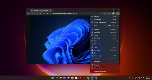 Edge Extensions and Bookmarks Bar in Browser Windows 11