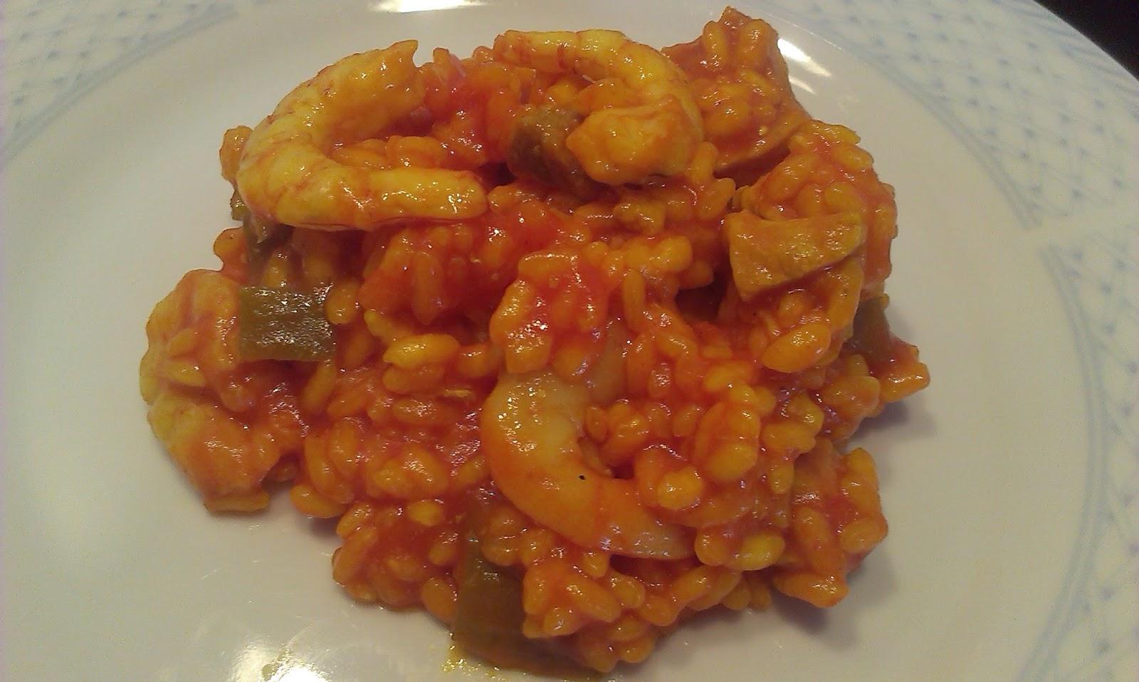 arroz, caldo, paella, carne, gambas, azafrán, consejos