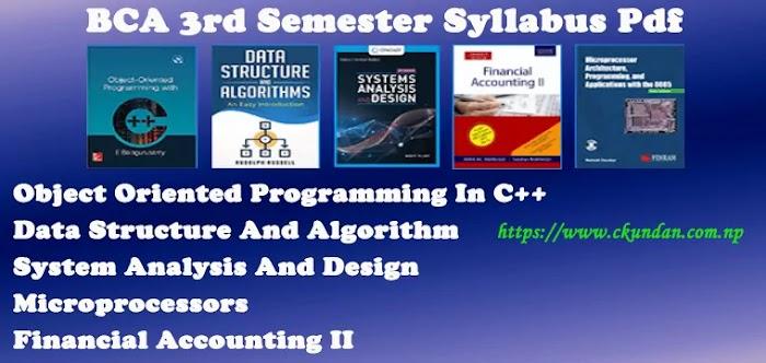 BCA 3rd Semester Syllabus Pdf