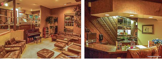 Sala de Squash de Graceland, onde Elvis passou sua última noite