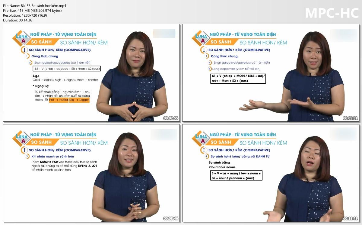 175 Video Học Ngữ pháp Tiếng Anh Chuyên sâu ( VIP 37 ).