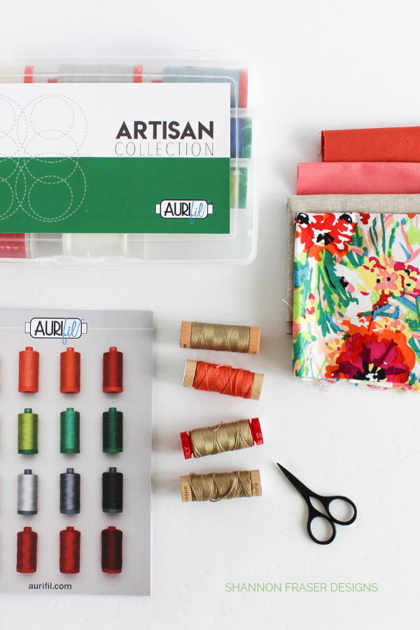 Aurifil Artisan Collection 12wt and Aurifloss | Summer Solstice Mini Art Quilts | Shannon Fraser Designs