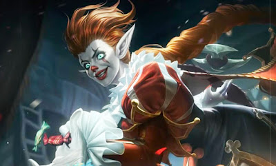 wallpaper karrie mobile legends clown