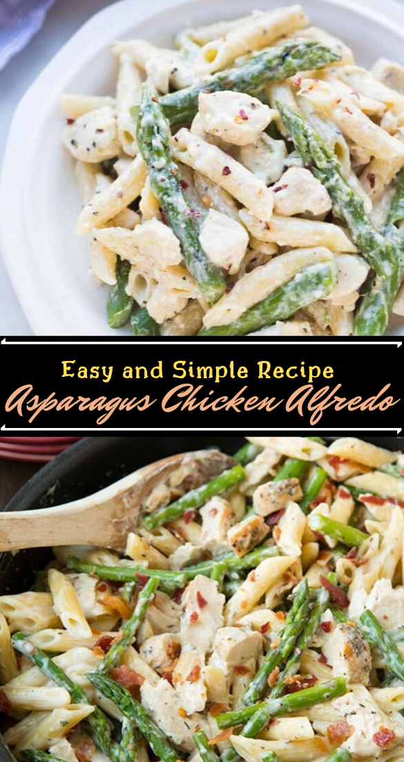 Asparagus Chicken Alfredo Recipe #healthyfood #dietketo #breakfast #food