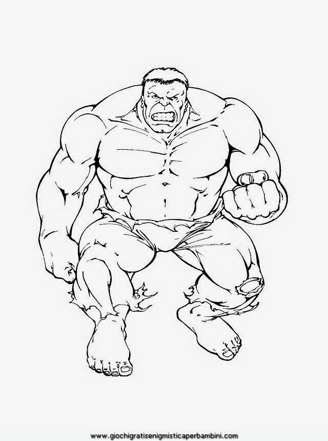 Disegni Da Colorare Hulk