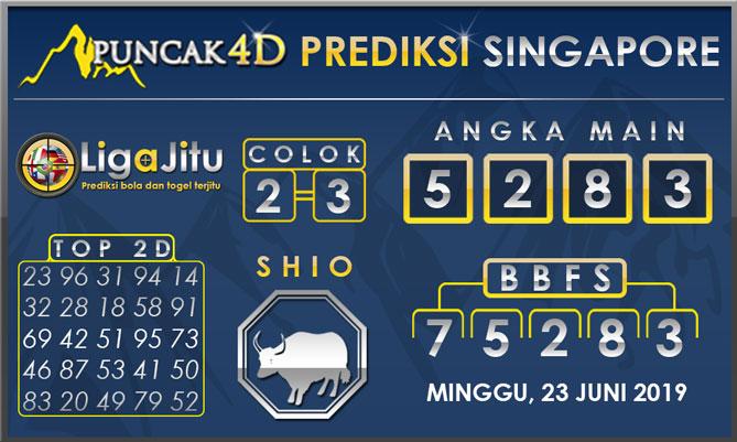 PREDIKSI TOGEL SINGAPORE PUNCAK4D 23 JUNI 2019