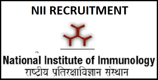 NII Various Post Recruitment 2020