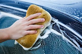 lavage auto au savon