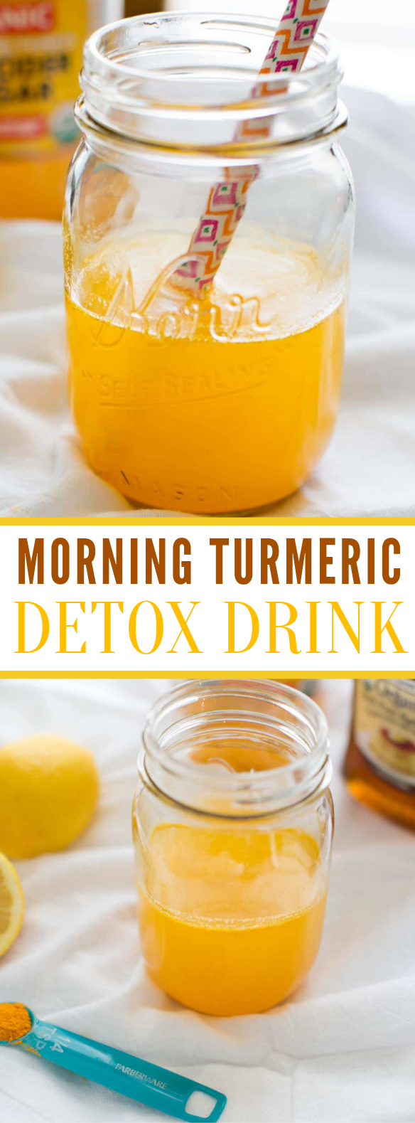 Morning Turmeric Detox Drink #healthydrinks #applecider