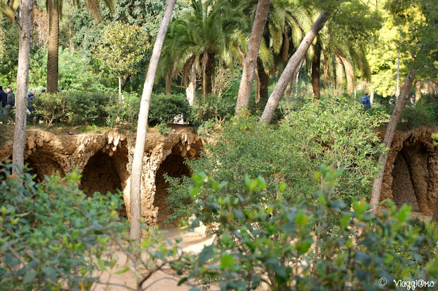 Area libera del Park Guell di Gaudì a Barcellona