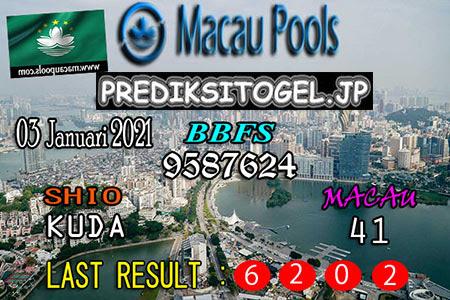 Prediksi Togel Wangsit Macau Pools Minggu 03 Januari 2021