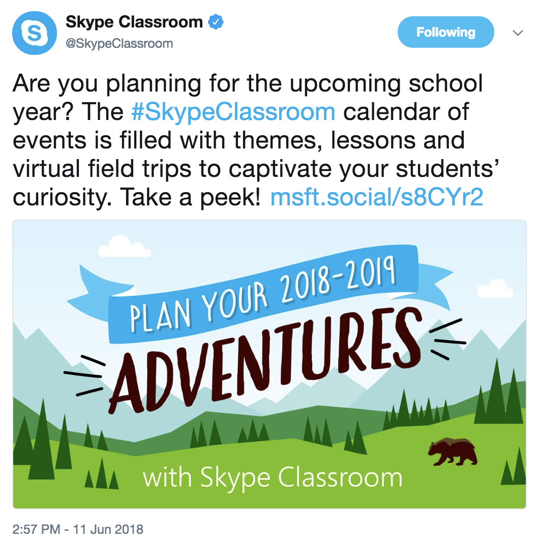 The Library Voice Plan Your Skype Adventures For 2018 19 With This