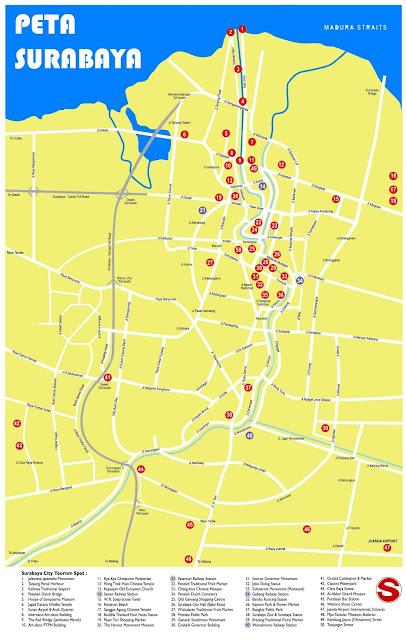 Gambar Peta Surabaya HD