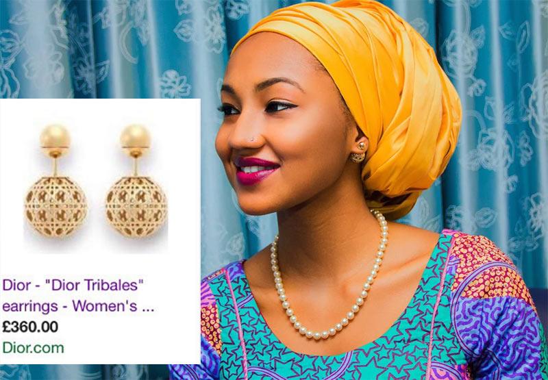 Twitter user calls out Zahra Buhari for wearing 210,000 naira earrings