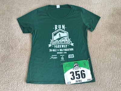 Run the Parkway 20 mile race shirt 2018