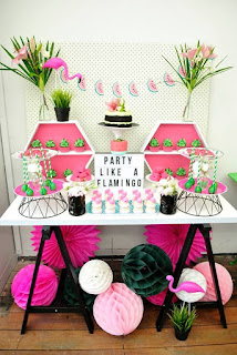 mesa festa flamingo