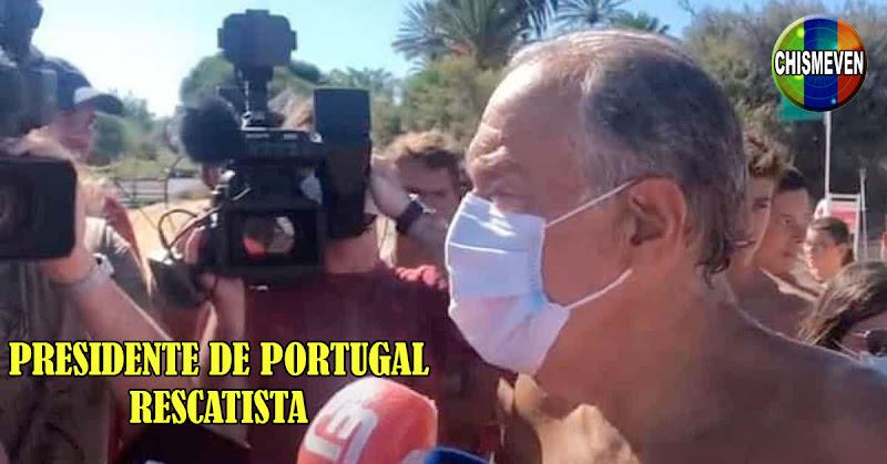Presidente de Portugal rescató a dos muchachas en apuros en medio del mar