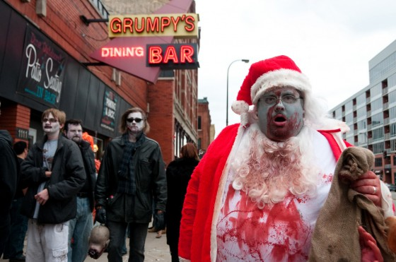 Santa Clause bloody zombie