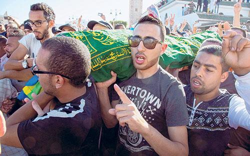 Beribu-Ribu Protes Kematian Ngeri  Seorang Penjual Ikan Di Maghribi,ok?
