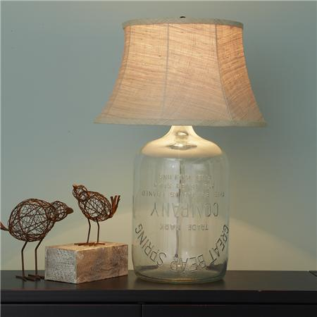 Glass Bottle Table Lamp Www Picsbud Com