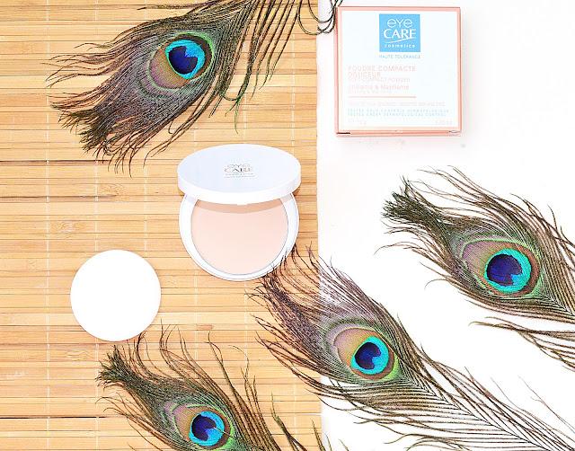 компактная пудра с хорошим составом для проблемной кожи аптечный декор Eye Care Compact Powder 02 Кашемировый