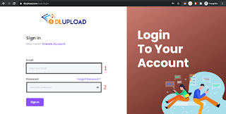 Login To Your Account Upload