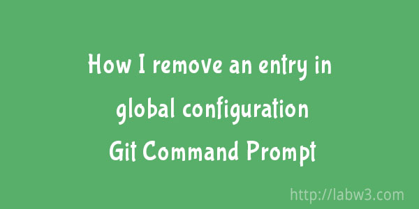 How to remove User Name and Email accounts from the Git Config