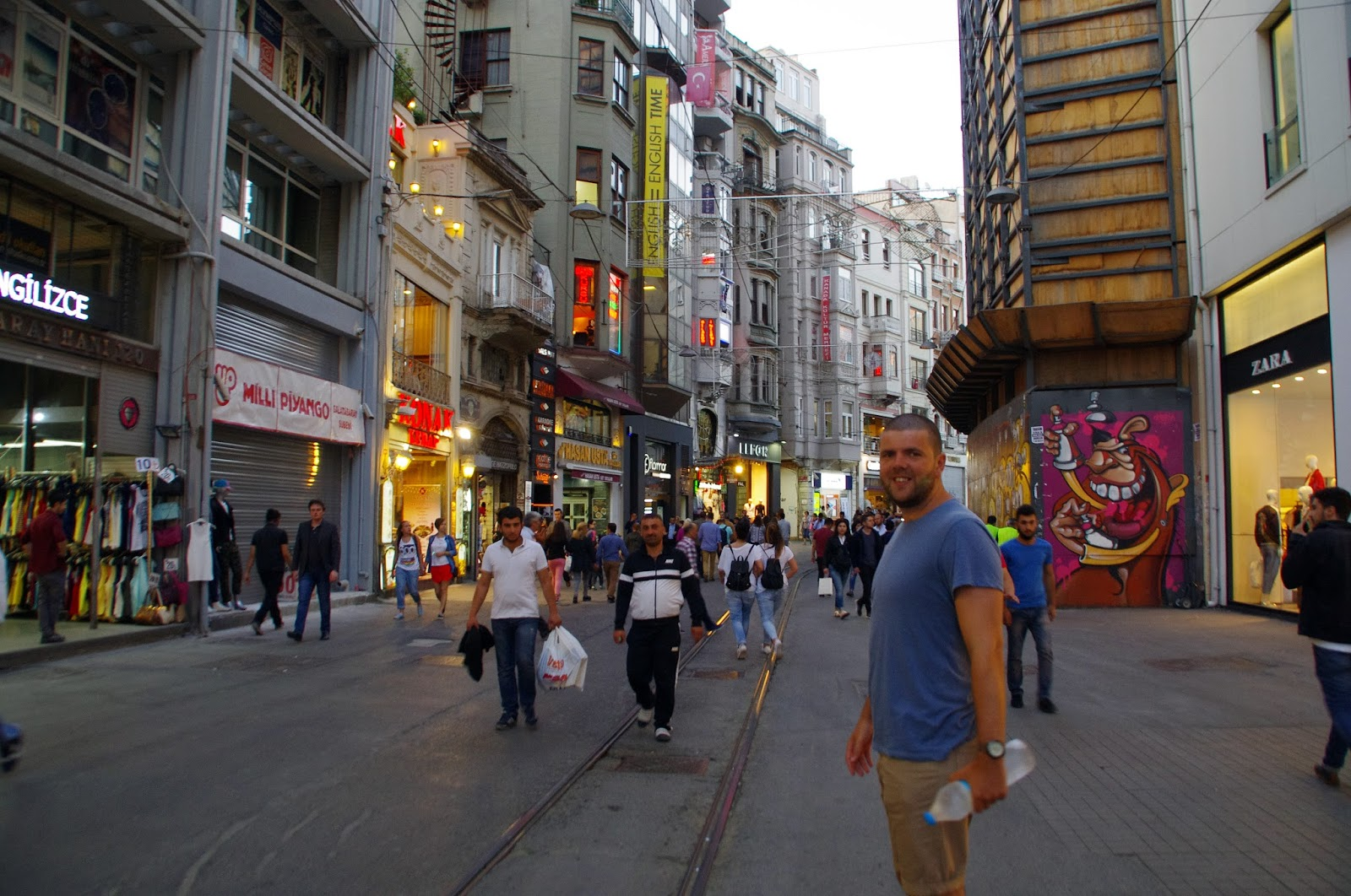 Guy on Istiklal Caddesi