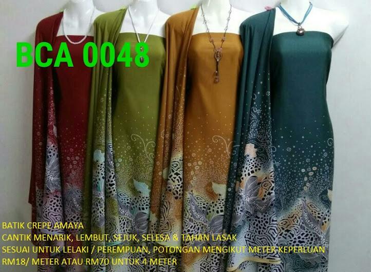 BCA 0048: BATIK CREPE AMAYA, OPEN METER, RM18/MTR