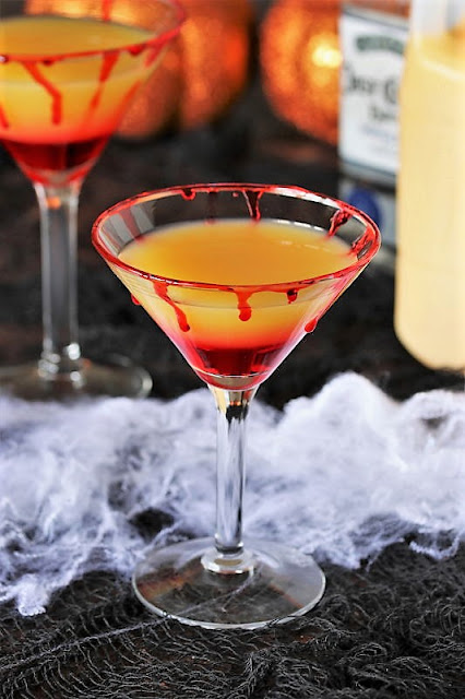 Bloody Sunrise Halloween Cocktail