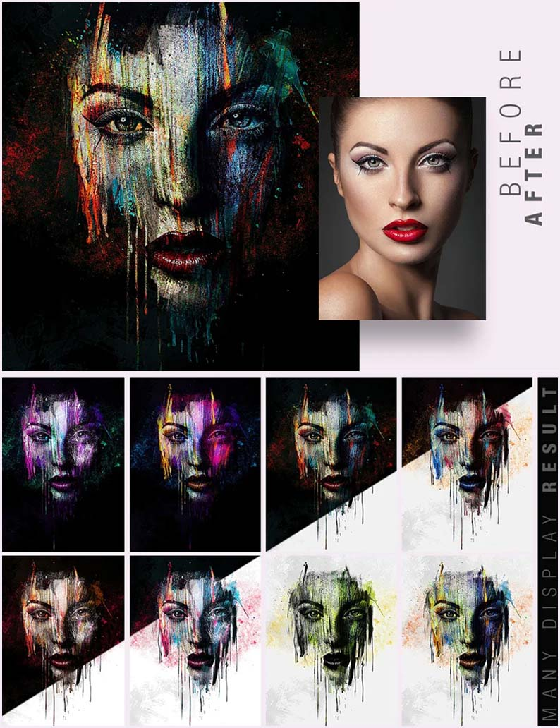 Face Painting PSD Photo Template
