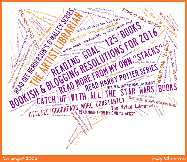 (c.) 2016 The Artist Librarian post - Bookish & Blogging Resolutions for 2016.