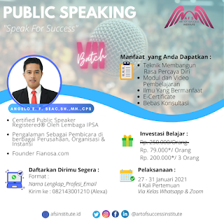 Kelas Public Speaking Online